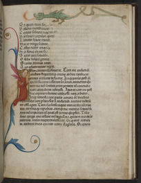 First page of Book III with historiated initial