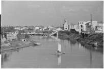 Marecchia River, Rimini, Italy, during World War II - Photograph taken by George Kaye