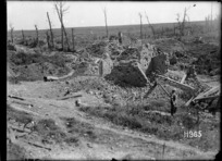 A corner of Puisieux captured by New Zealand soldiers in World War I