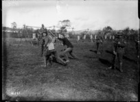 Bayonet training of New Zealand troops in World War I