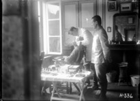 Soldier undergoing dental treatment during World War I