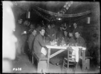 New Zealand Commander carves the turkey on Christmas Day, Chateau Segard, 1917