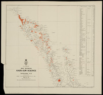 """Map showing kauri-gum reserves, Auckland, N.Z. [cartographic material] : under """"The Kauri-gum Industry Act, 1898"""", March 31st, 1903."""