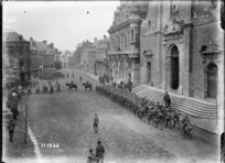 New Zealand Division leaving the town of Solesmes, France, after the armistice ending World War l