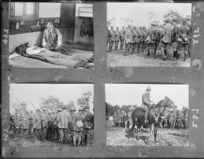 Four photographs of New Zealand soldiers in France, 1917, during World War I