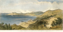Brees, Samuel Charles, 1810-1865 :Town of Wellington, Port Nicholson, from Kai-warra-warra Hill. Drawn by S C Brees. Engraved by Henry Melville. [London, 1847].