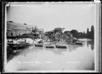 Gold extraction works at Paeroa - Photograph taken by Fred E Flatt