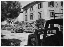Scene at Rimini, Italy, during World War II, with New Zealand tanks - Photograph taken by George Kaye