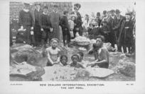 [Postcard]. New Zealand International Exhibition. The hot pool. No. 25 / Alva Studio. [1906-1907].