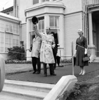 The Duke of Edinburgh waving his hat