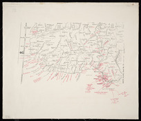 [Beattie, James Herries, 1881-1972] :[Map showing Maori placenames in Southland and Otago before 1840] [map with ms annotations].