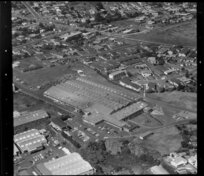 Unidentified factories in industrial area, Auckland, including some residential houses