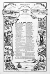 Evening Post :To the memory of 1839-40. Jubilee poem, first prize composed by H L James, esq., Wellington. Reprinted by permission of the Evening Post. 1890.
