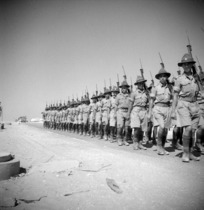 Maori soldiers on parade in Cairo, Egypt, World War 1939-1945