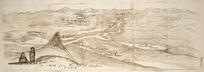 Taylor, Richard, 1805-1873 :A sketch from the top of Taupiri, Waikato. [1839?].