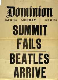 Dominion :Summit fails. Beatles arrive. Monday June 22 1964. [Billboard].