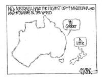 Winter, Mark 1958- :NZ & Australia have the highest use of marijuana and amphetamines in the world. 7 January 2012