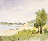 [Fox, William] 1812-1893 :[Russell from Paihia. ca 1850. Panorama, part 5]