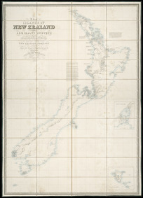 The Islands of New Zealand [cartographic material] / from the Admiralty surveys of the English and French Marine, from the observations of the officers of the New Zealand Company and from private surveys & sketches, compiled by James Wyld.