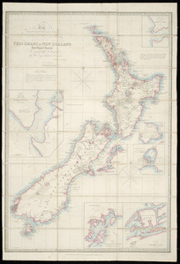 To the Right Honourable the Secretary of State for the Colonies, this chart of New Zealand [cartographic material] / from original surveys [of the New Zealand Land Company] ; engraved by James Wyld.