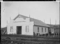 Te Mata Public Hall, near Raglan, 1910 - Photograph taken by Gilmour Brothers