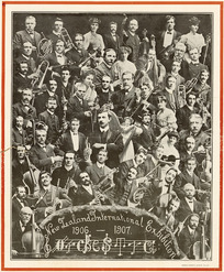 New Zealand International Exhibition Orchestra 1906-1907. Christchurch Press Company, printers. Hemus Sarony, photo, Ch.Ch [1907].
