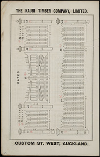 The Kauri Timber Company Ltd (Auckland Office) :Gates. [Catalogue page. ca 1906].