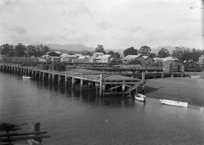 Whitianga wharves and township
