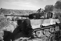 First German Tiger tank to be knocked out by NZ tanks during World War II, Italy
