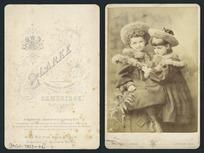 Two unidentified girls - Photograph taken by John Palmer Clarke