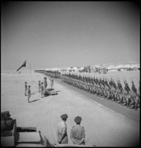 10th Reinforcements parade for General Freyberg at Mena, Egypt - Photograph taken by G Kaye