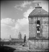Bellringer of the cathedral overlooking the town of Grottaglie, Italy - Photograph taken by George Kaye