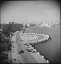 General view of the waterfront at Bari, Italy, taken from roof of Hotel Imperial - Photograph taken by George Kaye