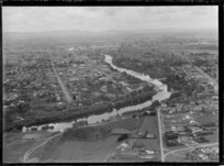 Aerial view of Hamilton, Waikato, New Zealand