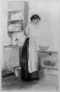 Phemie in the kitchen