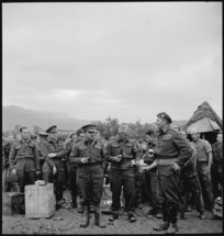 GOC visits troops on Christmas Day, Italy, World War II - Photograph taken by George Kaye