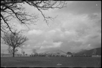 Volturno Valley scene of parade of 6 NZ Infantry Brigade, Italy, World War II - Photograph taken by George Kaye