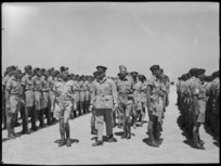 General Freyberg inspecting NZ Divisional Signals at Maadi - Photograph taken by G F Kaye