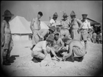 NZ Engineers constructing El Djem Theatre in Maadi Camp, Egypt - Photograph taken by George Kaye