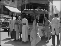 Bread from Maadi Camp bakery arriving at NZ Forces Club, Cairo - Photograph taken by George Kaye