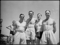 Champions of 5 NZ Field Regiment's swimming sports at Maadi Baths, Egypt - Photograph taken by George Kaye