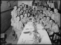 Soldiers at Rotorua and District Reunion dinner in Cairo, World War II - Photograph taken by G Kaye