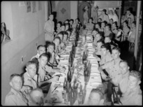 Soldiers from Rotorua and District at reunion dinner in Cairo, World War II - Photograph taken by G Kaye
