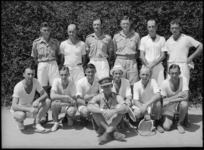 Teams in NZ Artillery versus South African Artillery tennis tournament at Maadi Sports Club grounds, Egypt - Photograph taken by George Kaye