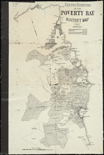 Sketch reduction of the Poverty Bay district map [cartographic material] / A. Koch, del.
