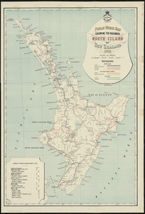 Public Works map showing the railways North Island of New Zealand 1901 [cartographic material] / A. Koch, del.