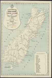 Public Works map showing the railways South Island of New Zealand 1901 [cartographic material] / A. Koch, del.