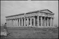 One of the temples at Paestum, Italy - Photograph taken by George Kaye