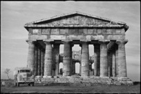 One of the temples at Paestum, Italy, visited by New Zealand troops on leave during World War II - Photograph taken by George Kaye