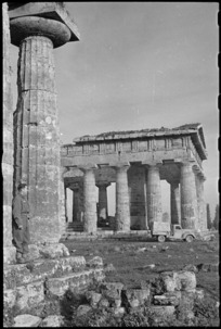Temple at Paestum, Italy - Photograph taken by George Kaye